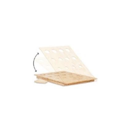 Expositor plegable de madera para 12 paraguas